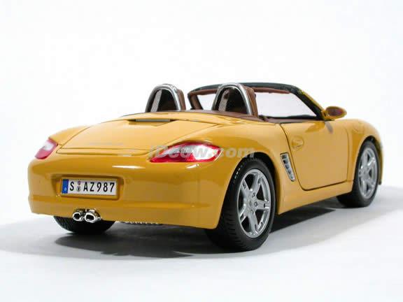 2005 Porsche Boxster diecast model car 1:18 scale die cast by Maisto - Yellow