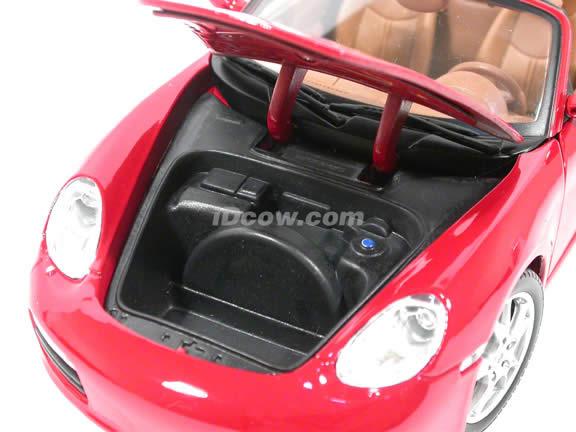 2005 Porsche Boxster diecast model car 1:18 scale die cast by Maisto - Red