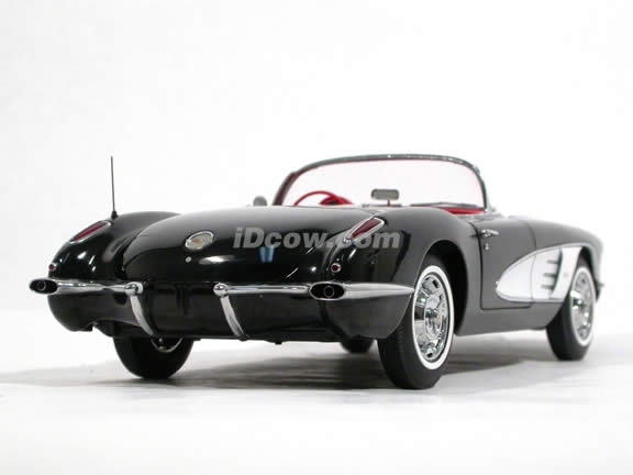 1959 Chevrolet Corvette diecast model car 1:18 scale die cast by AUTOart - Roman Black