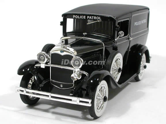 1931 Ford Panel Car Police Car diecast model car 1:18 scale die cast by Signature Models - Black