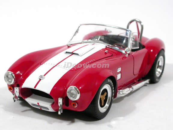 1965 Shelby Cobra 427 S/C diecast model car 1:18 scale die cast by Shelby Collectibles - Red