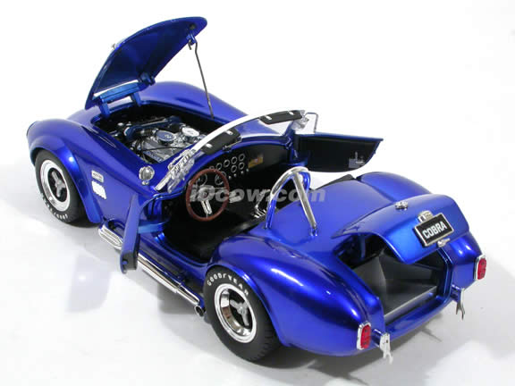 1966 Shelby Super Snake Cobra diecast model car 1:18 scale die cast by Shelby Collectibles - Candy Blue