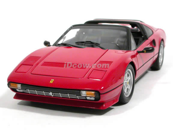 1985 Ferrari 308 GTS Quattrovalvole diecast model car 1:18 scale die cast by Kyosho - Red