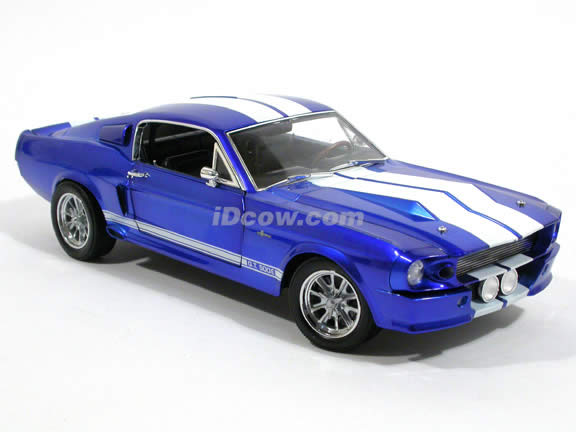 1967 Ford Mustang Shelby GT500E Eleanor diecast model car 1:18 scale die cast by Shelby Collectibles - Chrome Blue