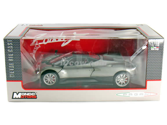 2010 Pagani Zonda F diecast model car 1:18 scale die cast by Mondo Motors - Grey