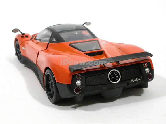 2010 Pagani Zonda F diecast model car 1:18 scale die cast by Mondo Motors - Orange
