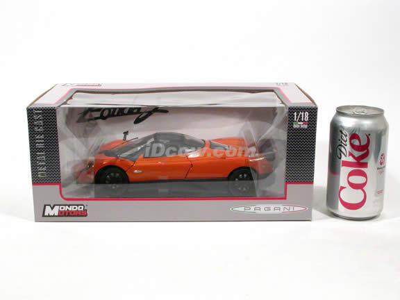 2010 Pagani Zonda F diecast model car 1:18 scale die cast by Mondo Motors - Orange