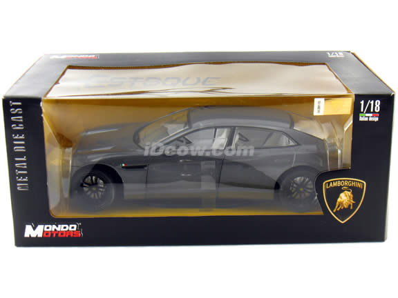2009 Lamborghini Estoque diecast model car 1:18 scale die cast by Mondo Motors - Metallic Grey