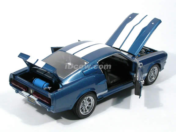 1967 Ford Mustang Shelby GT500E Eleanor diecast model car 1:18 scale die cast by Shelby Collectibles - Blue