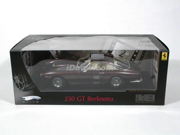 1962 Ferrari 250 GT Berlinetta Steve McQueen diecast model car 1:18 scale by Hot Wheels Elite - Dark Lavender