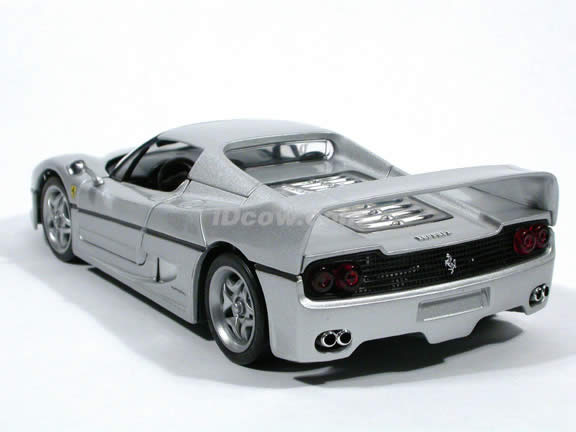 1995 Ferrari F50 diecast model car 1:18 scale die cast by Hot Wheels - Silver