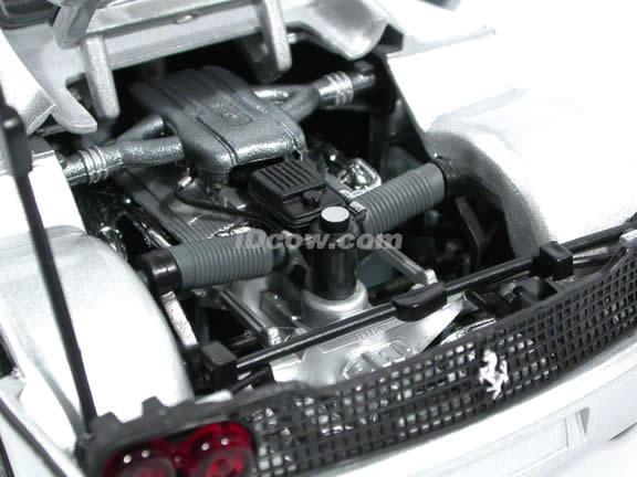 1995 Ferrari F50 diecast model car 1:18 scale die cast by Hot Wheels - Silver
