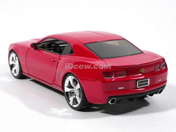 2010 Chevy Camaro SS diecast model car 1:18 scale die cast by Jada Toys - Red