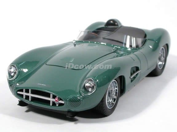 1959 Aston Martin DBR1 diecast model car 1:18 scale die cast by Shelby Collectibles - Green