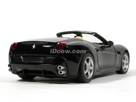 2010 Ferrari California diecast model car 1:18 die cast by Hot Wheels - Black