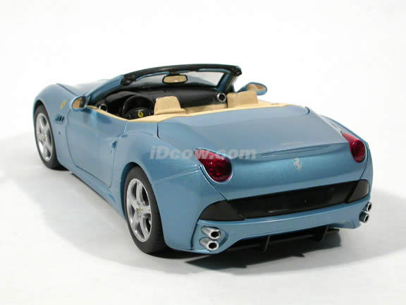 2010 Ferrari California diecast model car 1:18 die cast by Hot Wheels - Blue