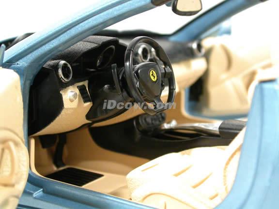 2010 Ferrari California diecast model car 1:18 die cast by Hot Wheels - Blue