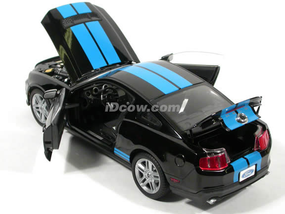 2010 Ford Shelby Mustang GT500 diecast model car 1:18 die cast by Shelby Collectibles - Black