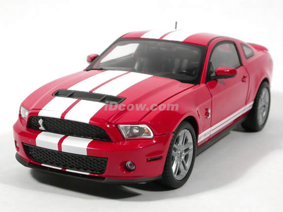 2010 Ford Shelby Mustang GT500 diecast model car 1:18 die cast by Shelby Collectibles - Red
