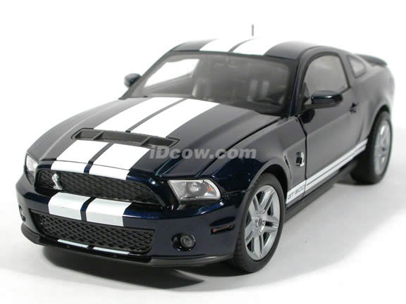 2010 Ford Shelby Mustang GT500 diecast model car 1:18 die cast by Shelby Collectibles - Dark Blue