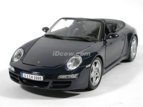 2005 Porsche 911 Carrera S Cabriolet diecast model car 1:18 scale die cast by Maisto - Dark Blue