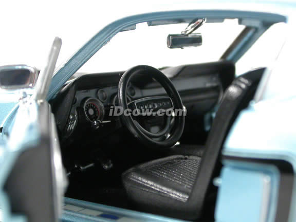 1968 Ford Mustang GT diecast model car 1:18 scale die cast by Maisto - Cobra Jet Blue