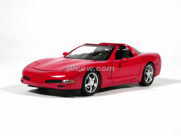 2003 Corvette model die cast car 1:18 diecast by Ertl - Red