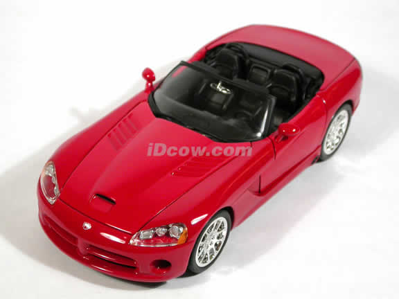 2003 Dodge Viper SRT-10 diecast model car 1:18 die cast by Ertl - Red