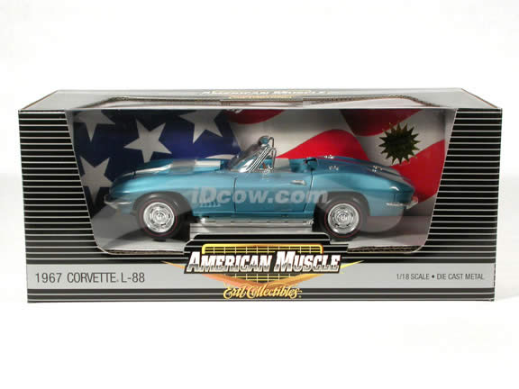 1967 Chevrolet Corvette L-88 diecast model car 1:18 scale die cast by Ertl 1 of 2500 - Blue