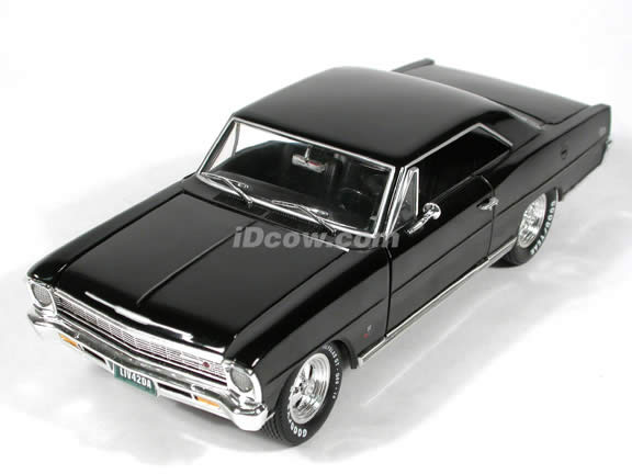 1966 Chevy Nova SS diecast model car 1:18 scale die cast by Ertl 1 of 2500 - Black