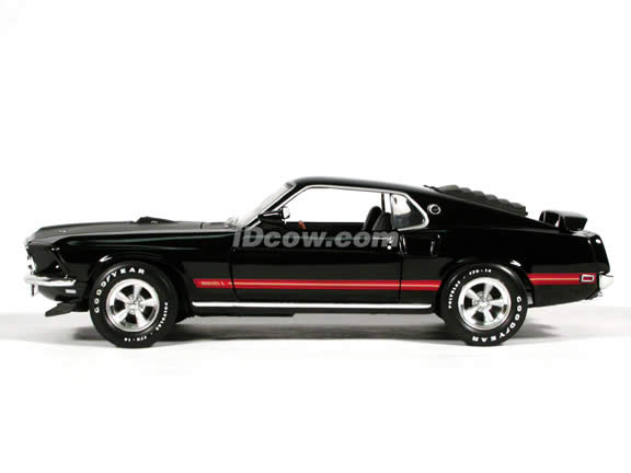 1969 Ford Mustang Mach I diecast model car 1:18 scale die cast by Ertl 1 of 2500 - Black