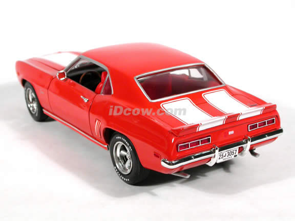 1969 Chevy Camaro Z28 diecast model car 1:18 scale die cast by Ertl 1 of 2500 - Orange