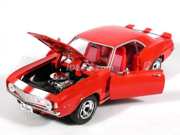 1969 Chevy Camaro Z28 diecast model car 1:18 scale die cast by Ertl 1 of 2500 - Orange
