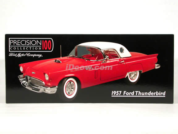 1957 Ford Thunderbird diecast model car 1:18 scale die cast by Precesion Collection 100 ERTL - Red