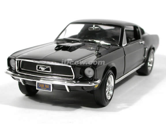 1968 Ford Mustang GT Street Machine diecast model car 1:18 scale die cast by Ertl - Black
