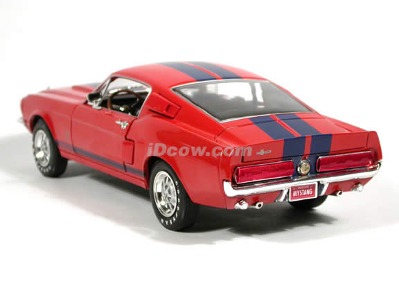 1967 Shelby GT-500 Mustang diecast model car 1:18 scale die cast by Ertl - Red Orange