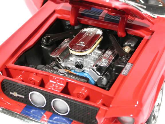 1967 Shelby GT-500 Mustang diecast model car 1:18 scale die cast by Ertl - Red Orange