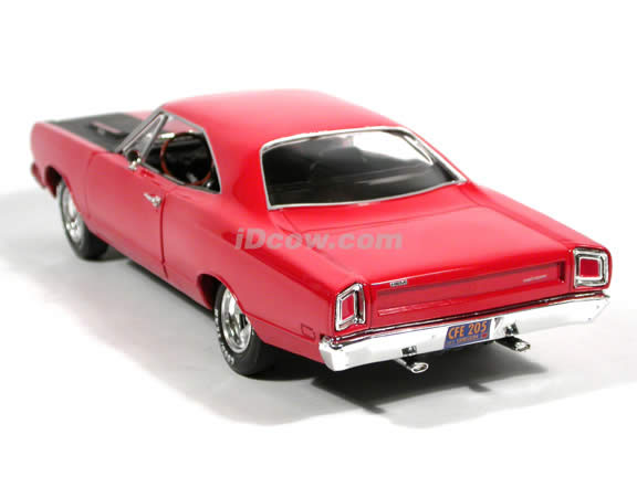 1969 Plymouth Roadrunner diecast model car 1:18 scale die cast by Ertl - Red