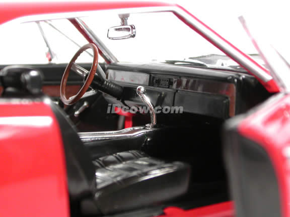 1969 Plymouth Roadrunner diecast model car 1:18 scale die cast by Ertl - Red