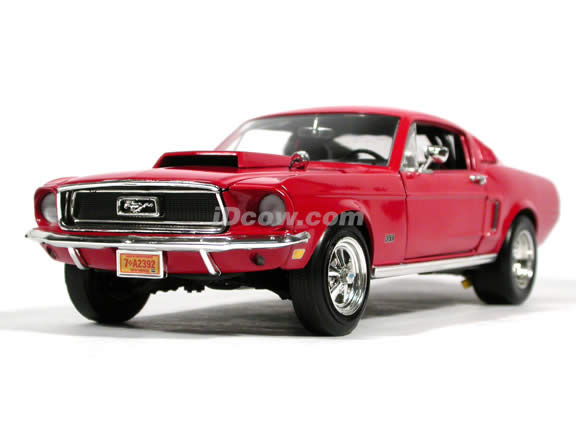 1968 Ford Mustang GT diecast model car 1:18 scale die cast by Ertl - Red