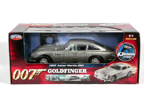 1965 Aston Martin DB5 007 James Bond Gold Finger diecast model car 1:18 scale die cast by Ertl