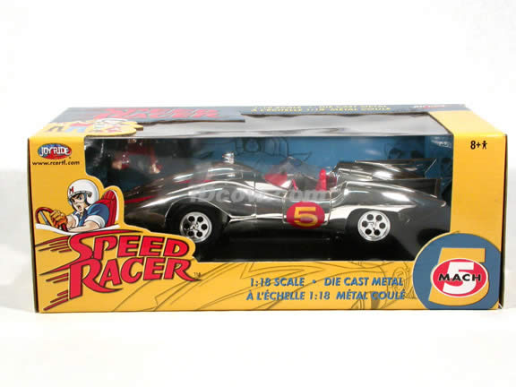 Speed Racer Mach 5 diecast model car 1:18 die cast by Ertl - Chrome Limited Edition
