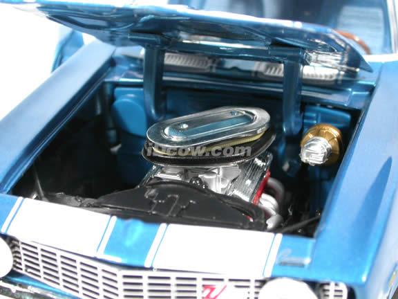 1969 Chevy Camaro Z-28 diecast model car 1:18 scale die cast by Ertl - Metallic Blue