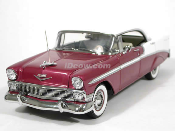 1956 chevrolet bel air 4 door hardtop diecast model car 1. Black Bedroom Furniture Sets. Home Design Ideas
