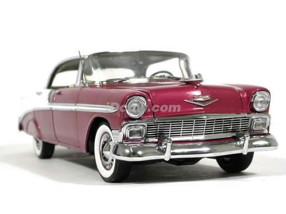 1956 Chevrolet Bel Air 4 Door Hardtop diecast model car 1:18 scale die cast by Ertl Precision Minatures - Dusk Plum