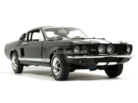 1967 Ford Mustang Shelby GT-500 diecast model car 1:18 scale die cast by Ertl - Black 1 of 2500