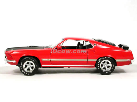 1969 Ford Mustang Mach 1 diecast model car 1:18 scale die cast by Ertl - Orange