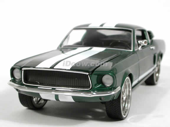 1967 Ford Mustang diecast model car 1:18 scale Fast and Furious 3 Tokyo Drift by Ertl - Green 53611A