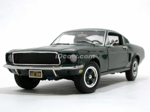 1968 Ford Mustang GT Bullit diecast model car 1:18 scale die cast by Ertl - Green 33118