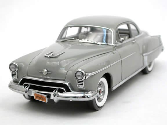 1950 Oldsmobile Rocket 88 diecast model car 1:18 scale die cast by ERTL Authentics - Grey 39402